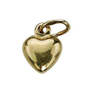 SG4205: Gold-Plated Sterling Silver Puff Heart Charm