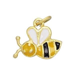 SG484E: Enameled Bumble Bee Charm