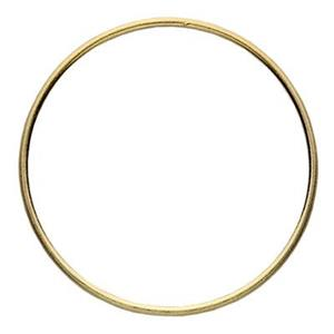 SG58925: Gold-Plated Sterling Silver 25mm Circle Ring Link