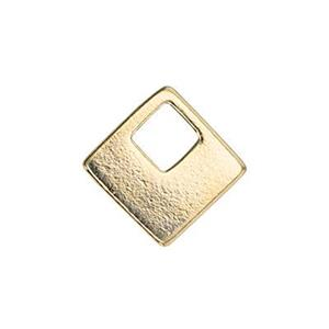 SG6892: 7.6mm Contemporary Square Charm, 3mm Open Square ID