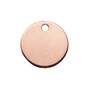 SGR10010: Rose Gold-Plated Sterling Silver 9mm Circle Blank