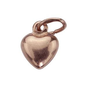 SGR4205: Rose Gold-Plated Sterling Silver Puff Heart Charm