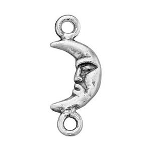 SH102: Sterling Silver Tiny Man in the Moon Crescent Link