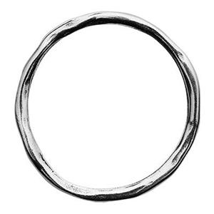 SH141: Sterling Silver 20mm Twiggy Circle Ring Link