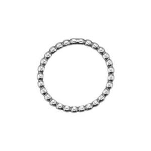 SH157: Beaded Round Circle Link