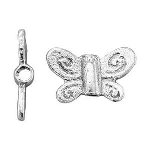 SH173: Sterling Silver Small Butterfly Bead