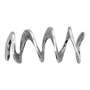 SH2320: Sterling Silver Loopy Spiral Bead