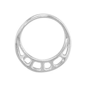 SH4104: Sterling Silver Asymmetric Circle Ring Link