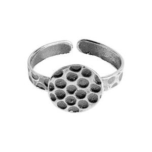 SH530: Sterling Silver Finger Ring with Glue Pad