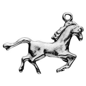 SH774: Sterling Silver Galloping Horse Charm