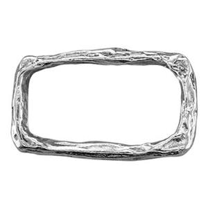 SH796: Sterling Silver Textured Rectangle Link