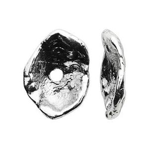SH932: Sterling Silver Oyster Heishe Beads