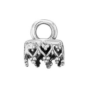 SH956: Sterling Silver Gallery End Cap or Cap Bail