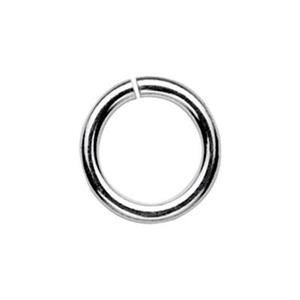 SJ128: Sterling Silver 8mm Open Jump Ring
