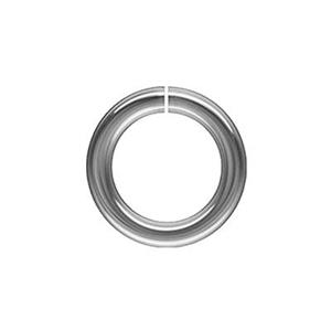 SJH3: Sterling Silver 8mm Hard Snap Open Jump Ring