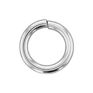 SJH4: Sterling Silver 10mm Hard Snap Open Jump Ring