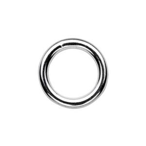 SJSR128: Sterling Silver 8mm Soldered Jump Ring
