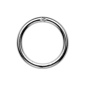 SJSR130: Sterling Silver 10mm Soldered Jump Ring