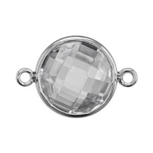 SKU78CZ: Two Sided Checkerboard Link with CZ