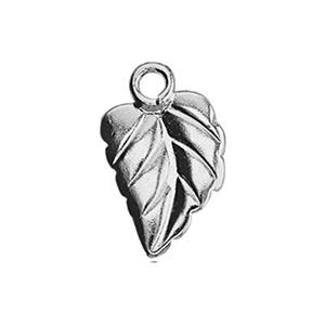 SL1152: 5.9x9.6mm Pattern Leaf Charm, 1.1mm Closed Ring ID