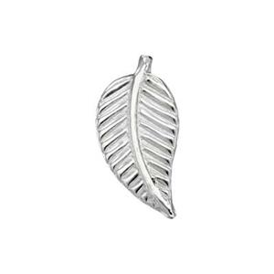 SL125L: Sterling Silver Vein Leaf Solder Ornament