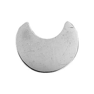 SL1282: Sterling Silver Eclipse Crescent Moon Blank