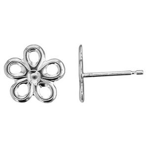 SL12R: 9.5x9.3mm Daisy Post Earring, .7mm Post Thickness. Clutches Not Included. 10pc pack is the equivalen