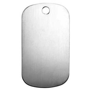 SL2169: Sterling Silver Large Dog Tag Blank Pendant