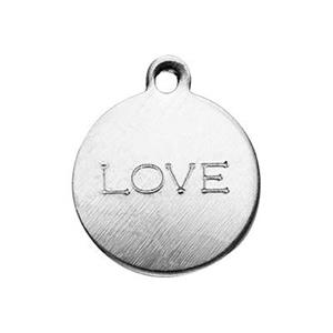 SL2211: Sterling Silver Love Tag Charm