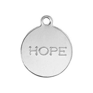 SL2212: Sterling Silver Hope Tag Charm