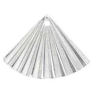 SL228: 19.6x14.4mm 30ga Folded Fan Earring Jacket, 1.1mm Hole ID