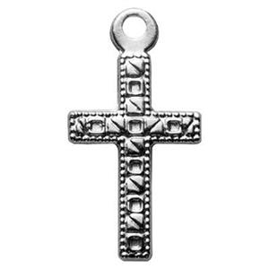 SL2316: Sterling Silver Stamped Cross Charm
