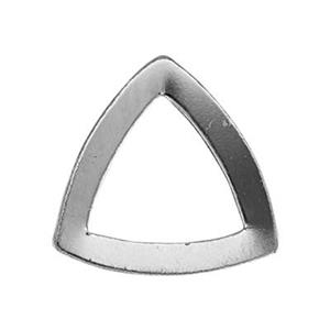 SL2334: Sterling Silver Curved Triangle Outline Link