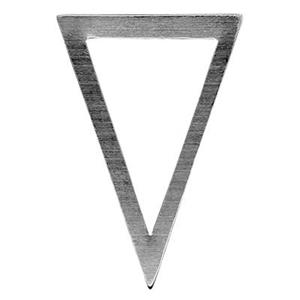 SL2335: Sterling Silver Large Triangle Outline Link