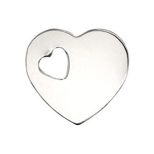 SL2478: Sterling Silver Heart Blank with Cutout