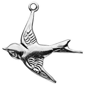 SL482: Sterling Silver Swallow Bird Charm