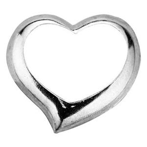 SL833: Sterling Silver Floating Heart Charm