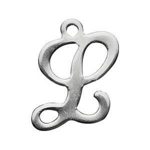 SLL: Sterling Silver Letter L Charm