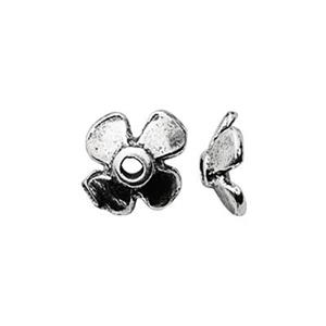 SM92: Sterling Silver Small Flower Bead Cap