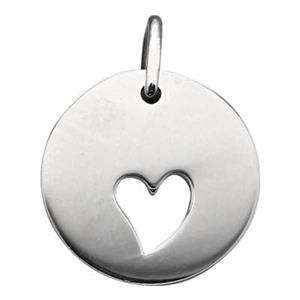 SN135: Sterling Silver Heart Cutout Tag