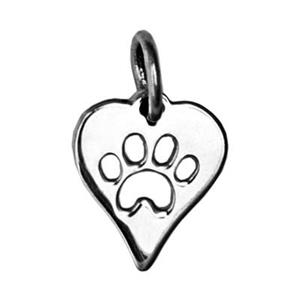 SN146: Silver Paw Heart Charm