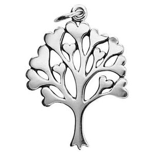 SN166: Heart Leaf Tree Pendant