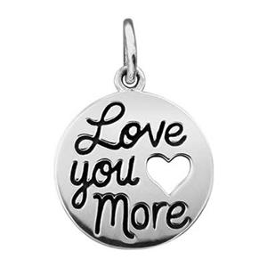 SN171: Sterling Silver Love You More Charm