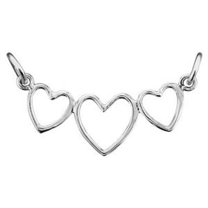 SN184: Sterling Silver Open Hearts Festoon Link