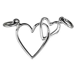 SN185: Sterling Silver Double Heart Link