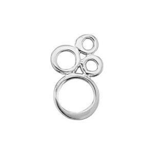 SN200: Sterling Silver Small Bubbles Link