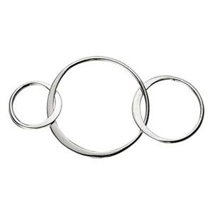 SN235: Sterling Silver Large Three Circles Chain Segment Link