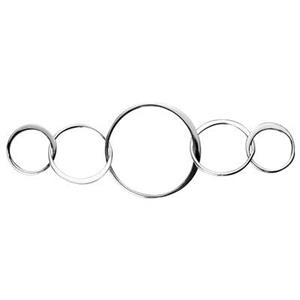SN237: Sterling Silver Five Circles Chain Segment Link
