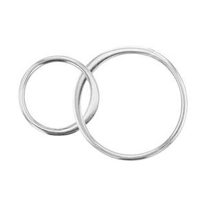 SN246: Sterling Silver Two Circles Half Flat Chain Link