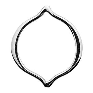 SN267: Sterling Silver Small Pointed Oval Link